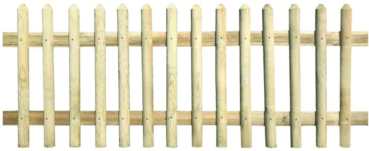 vidaXL Hek ge??mpregneerd grenenhout 170x100 cm 5/7 cm