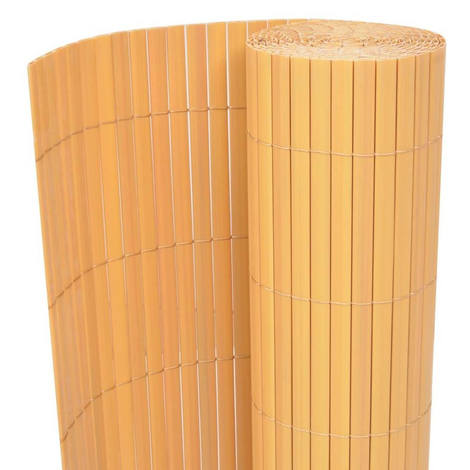vidaXL Tuinafscheiding dubbelzijdig 90x500 cm geel
