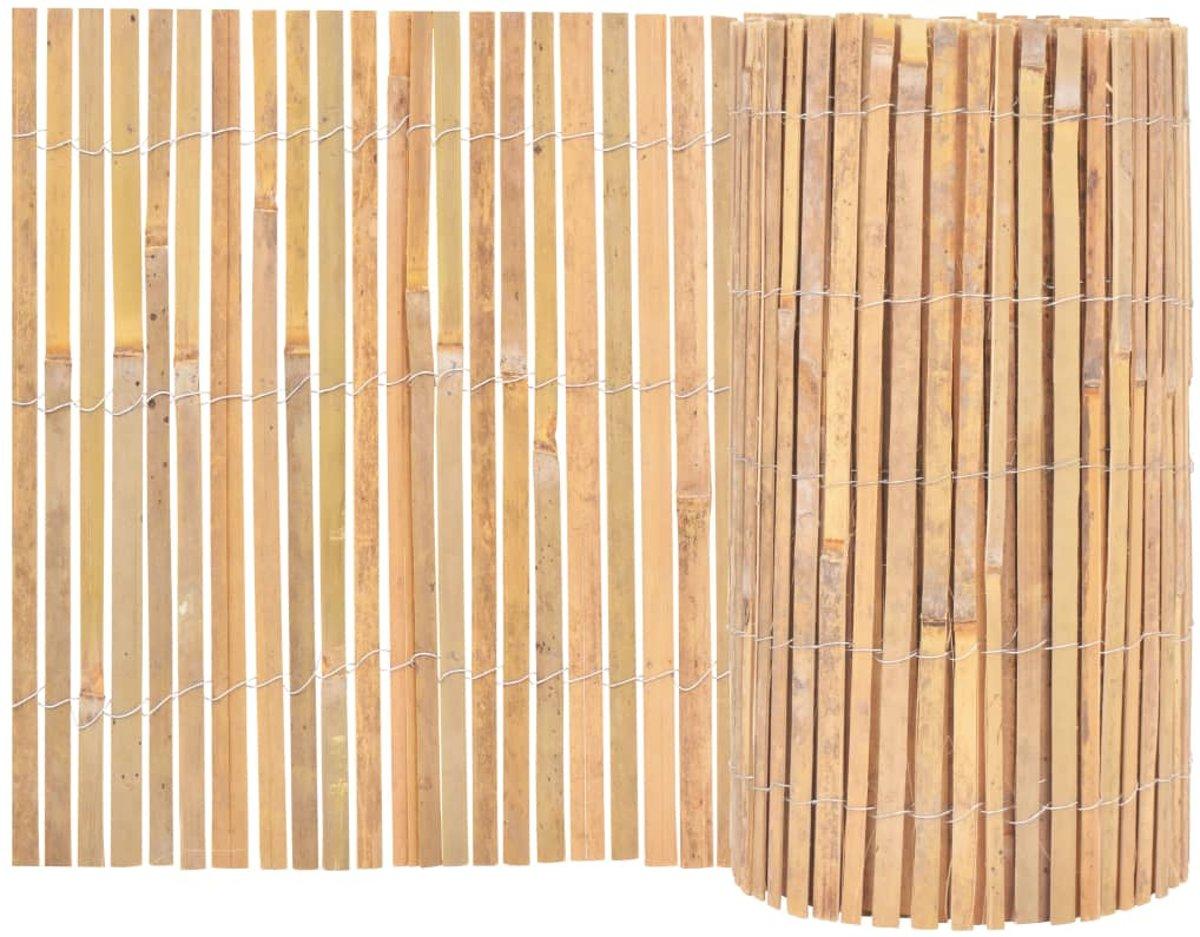 vidaXL Tuinhek 1000x50 cm bamboe