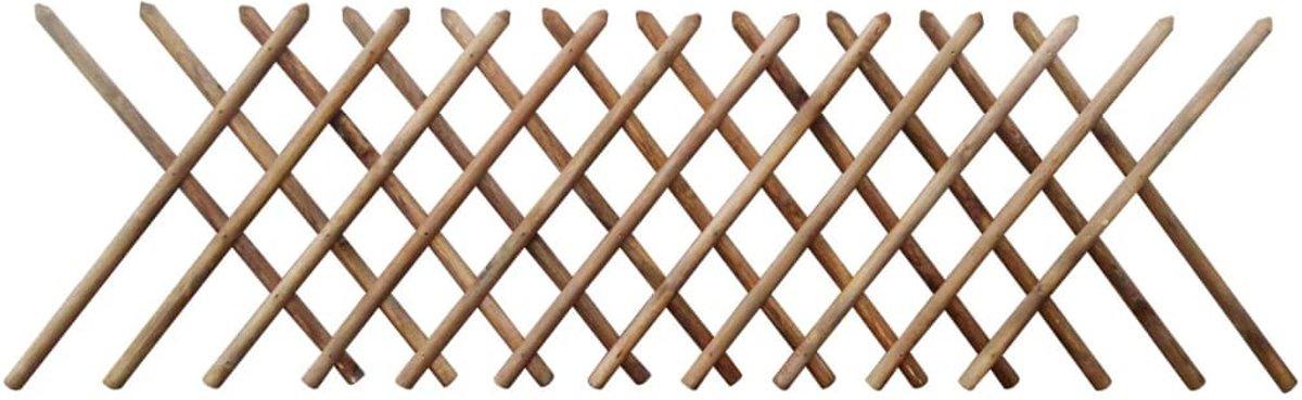vidaXL Klimrek verstelbaar 250x100 cm ge??mpregneerd hout