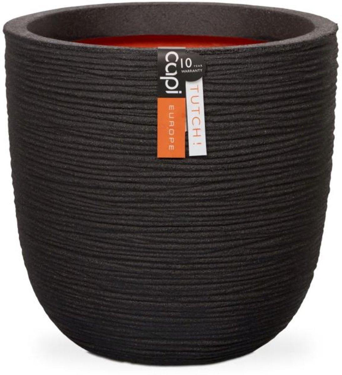 Capi Nature pot bol rib NL 54x52 - zwart