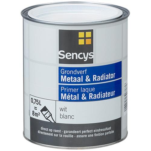 Sencys grondverf metaal en radiator wit 750ml