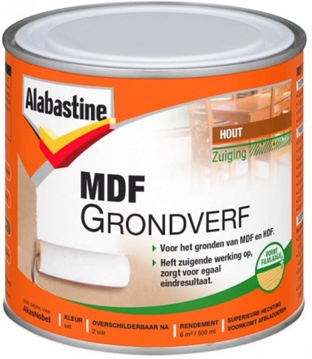Alabastine Grondverf 2-in-1 MDF Wit 500 ml
