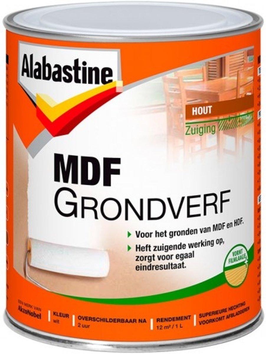 Alabastine Grondverf 2-in-1 MDF Wit 1000 ml