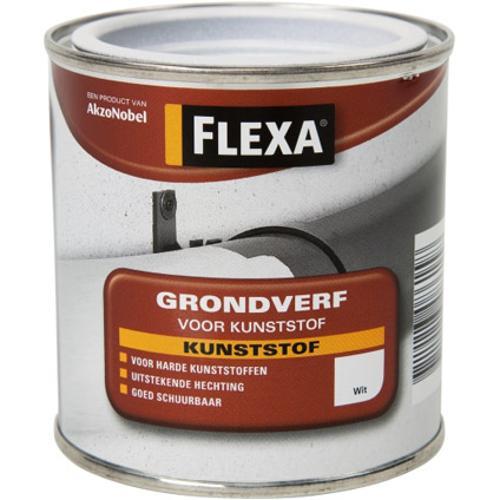 Flexa grondverf voor kunststof wit 250ml