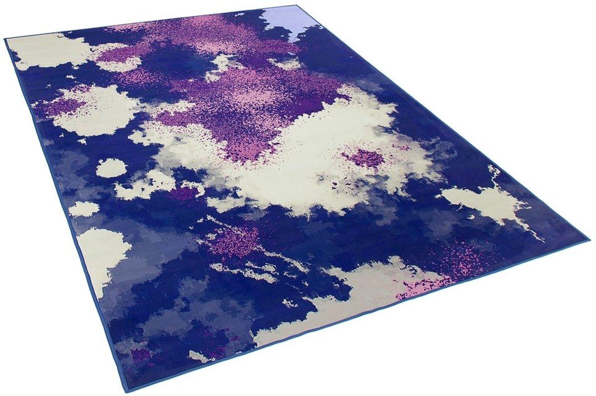 Beliani Kadirli Tapijt Meerkleurig Stof 160 x 230 cm