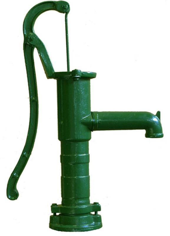 Gietijzeren Zwengelpomp Groen