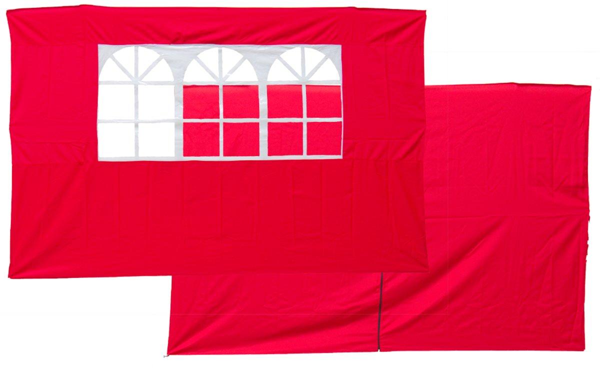 Set van 2 zijwanden rood voor partytenten