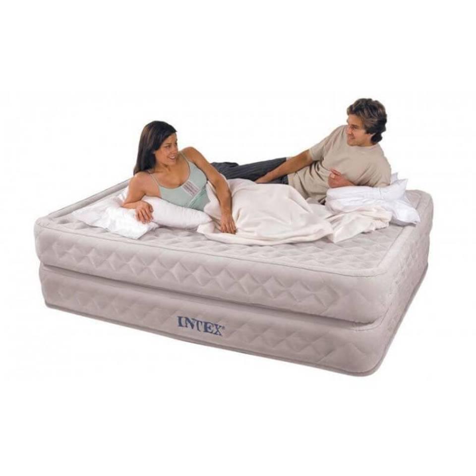 Intex queen supreme air-flow zelfopblazend 2-persoons luchtbed (203x152x51cm)