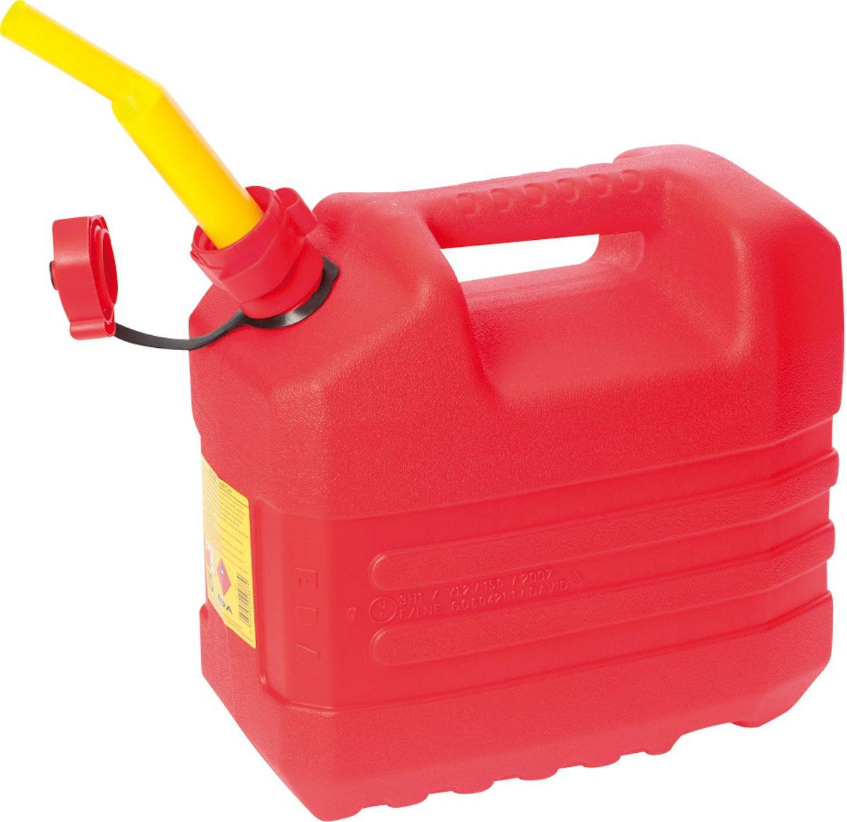 Eda Benzine Jerrycan - Met Tuit - 10 Liter - Rood