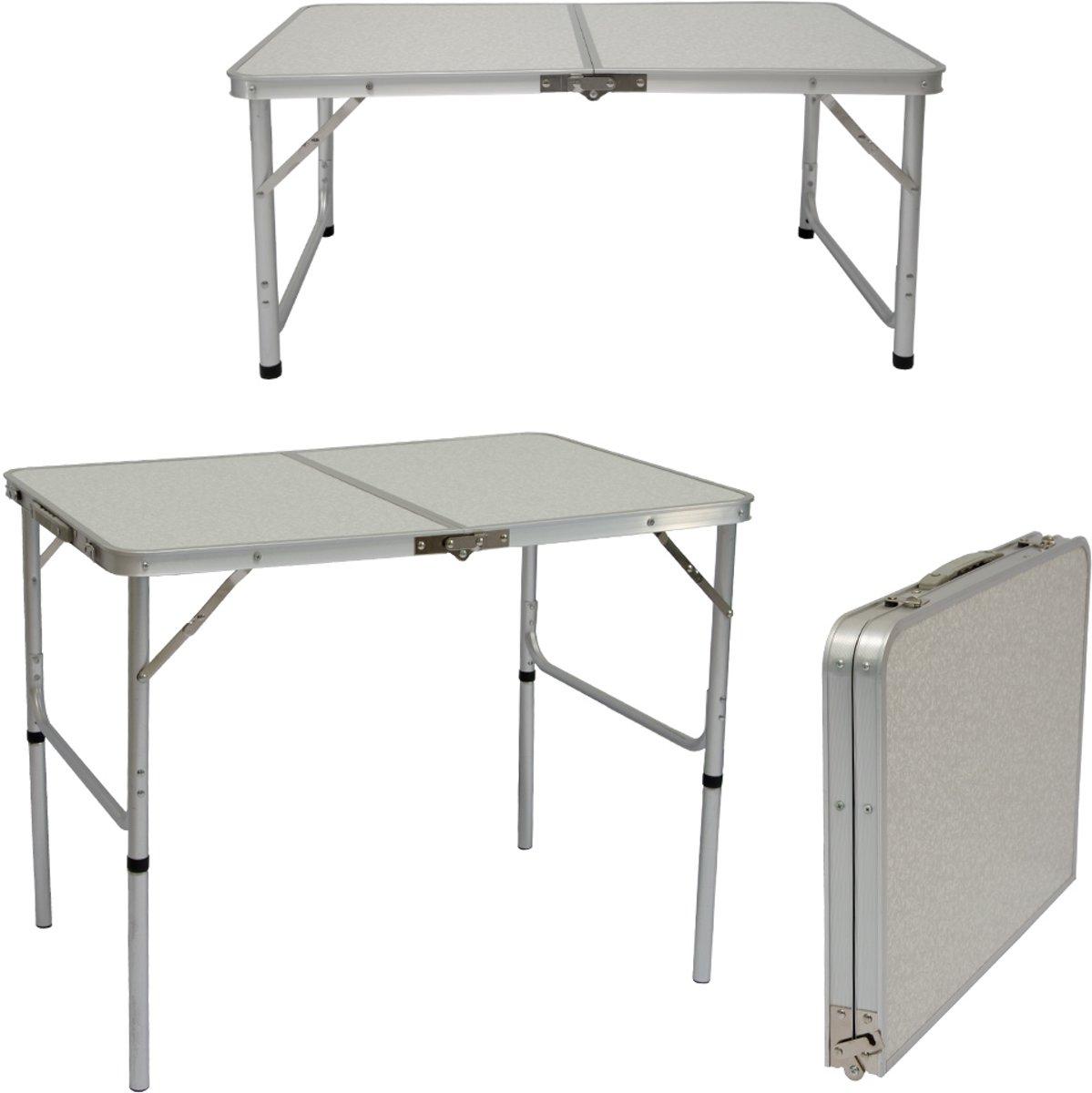 Campingtafel 90cm x60cm x60cm klaptafel koffer tafel klaptafel tuintafel balkontafel
