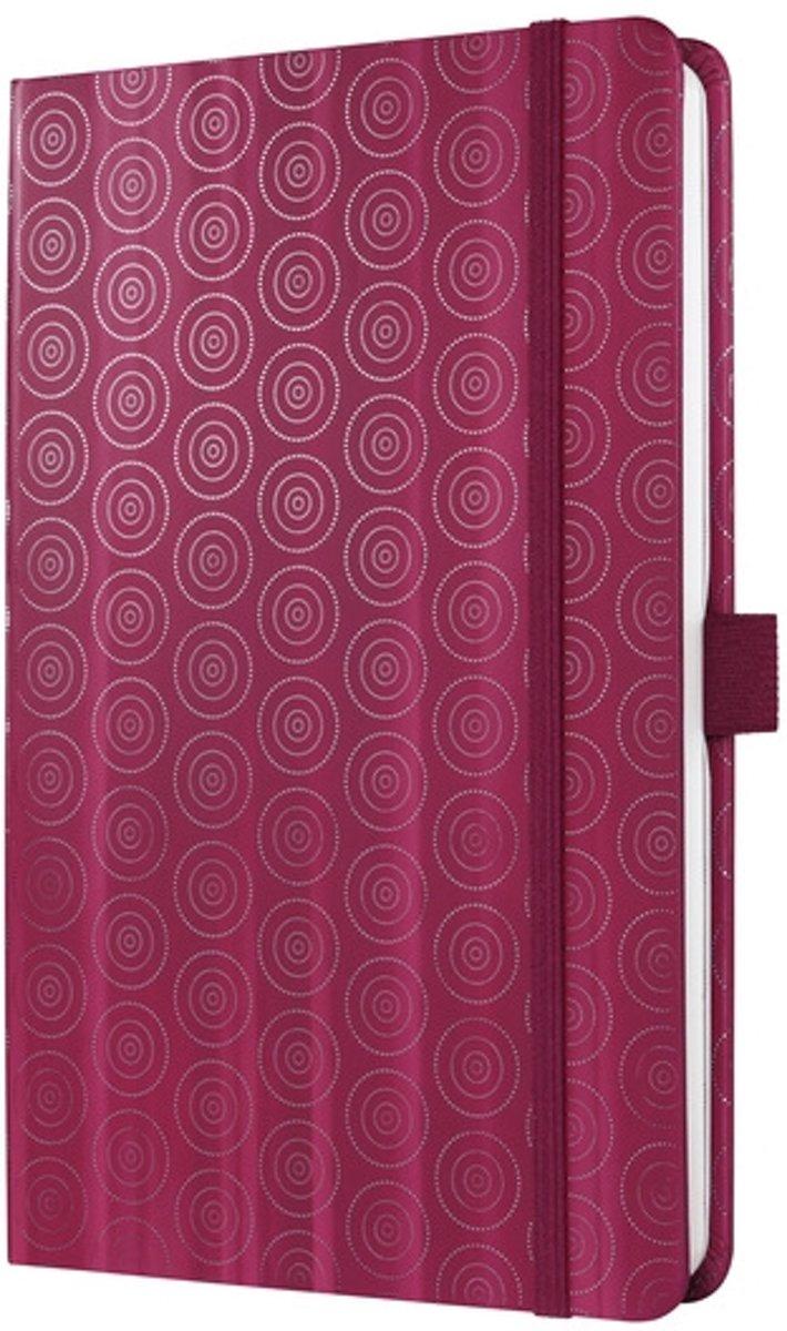 Notitieboek Sigel Jolie Beauty A5 hardcover gelinieerd rood