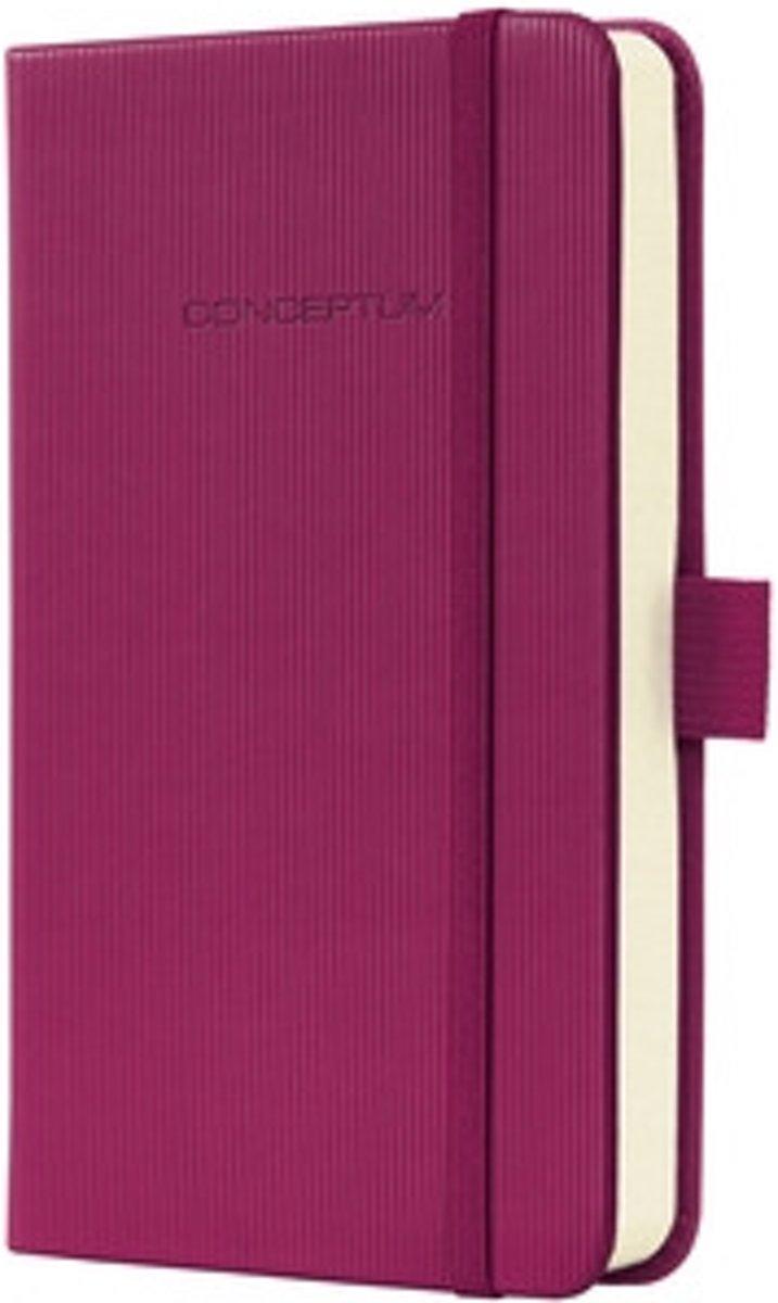 notitieboek Sigel Conceptum Pure hardcover A6 Wild Pink gelinieerd