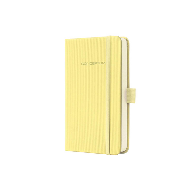 Notitieboek Sigel Conceptum Design Hardcover A6 Geel Geruit