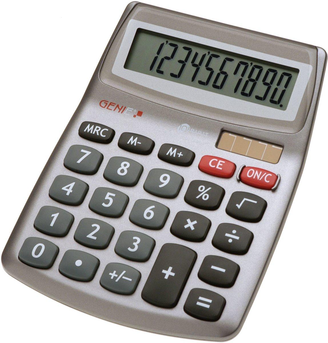 Bureaurekenmachine GENIE 540 Grijs Aantal displayposities: 10 werkt op zonne-energie, werkt op batterijen