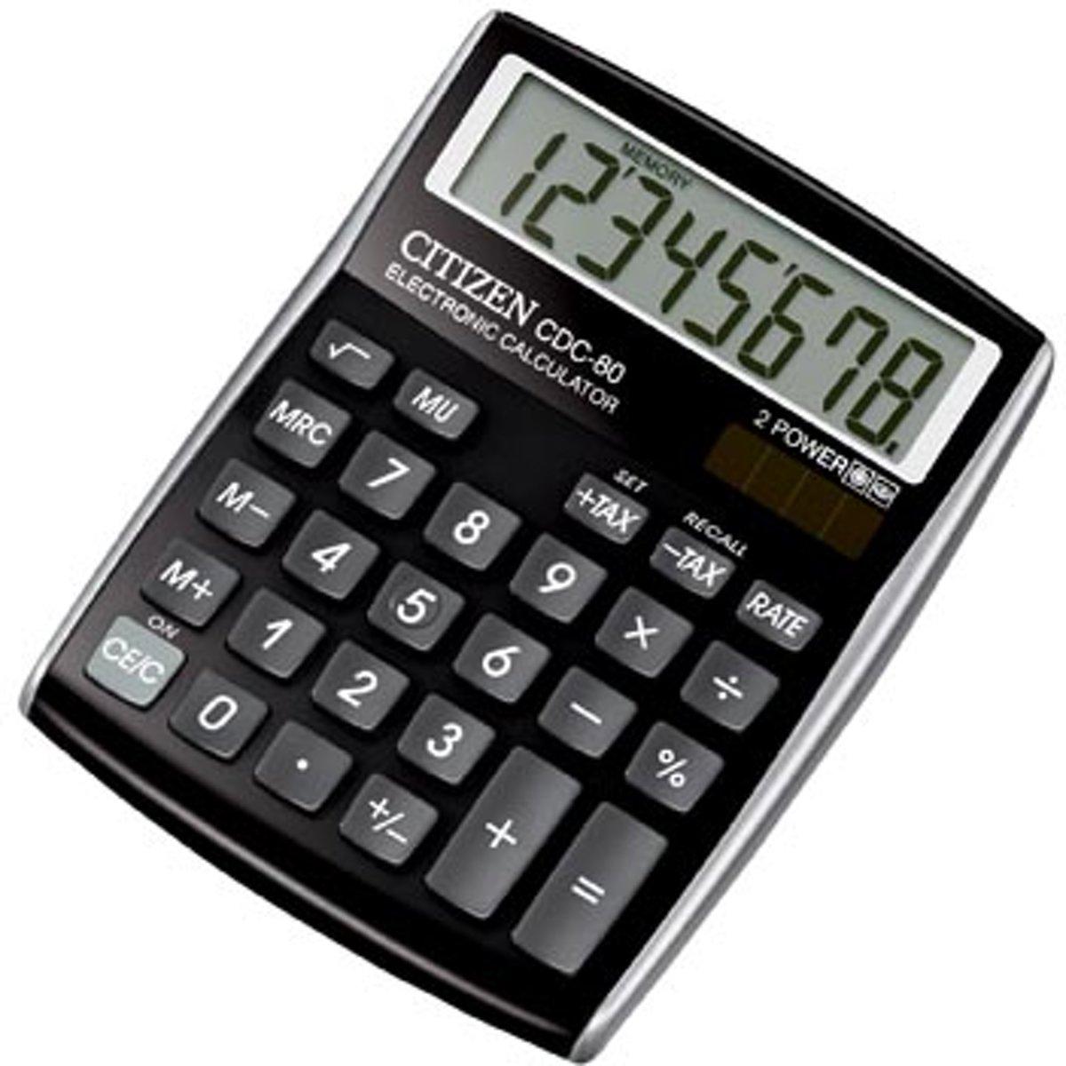 Bureaurekenmachine Twen J 1010 Zwart Aantal displayposities: 10 werkt op zonne-energie, werkt op batterijen