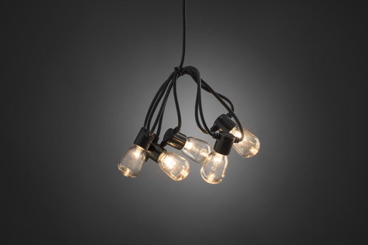 Konstsmide 2387-100 Party-lichtketting Buiten werkt op het lichtnet 40 + 80 Gloeilamp, LED Helder Verlichte lengte: 9.75 m
