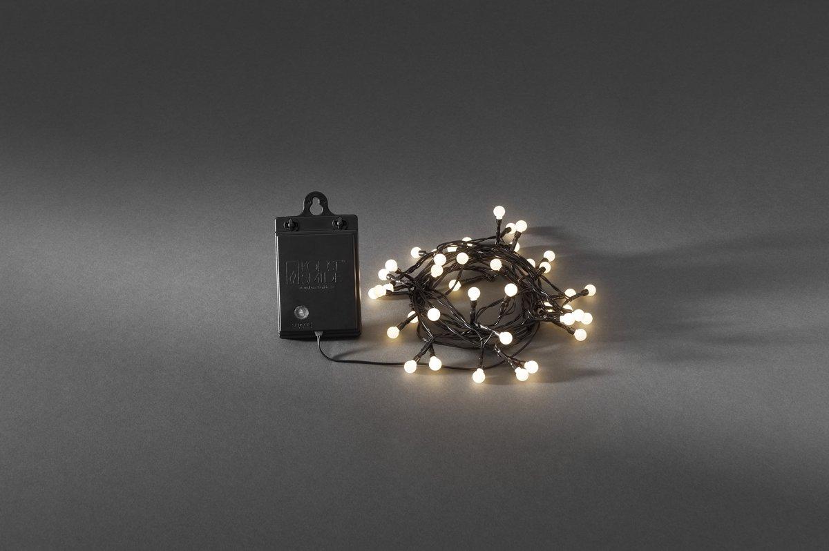 Lichtketting met batterijen Buiten werkt op batterijen 40 LED Warm-wit Verlichte lengte: 3.12 m Konstsmide 3740-100