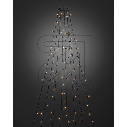 Konstsmide LED kerstverlichting boommantel met vuurvlieg effect - 2,4 meter