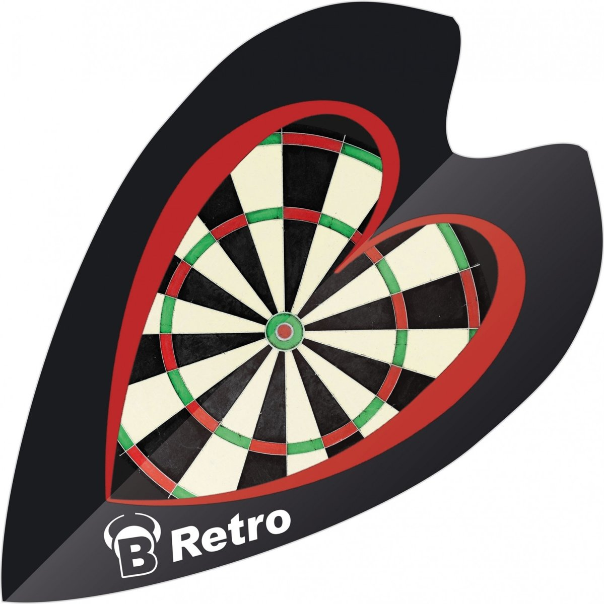 Bull?s Flights Mini Retro & Retro Dartbord 100 Micron Zwart