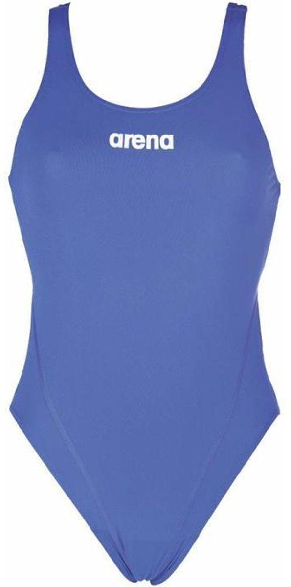 arena Solid Swim Tech High Badpak Dames blauw Maat DE 40 | US 36