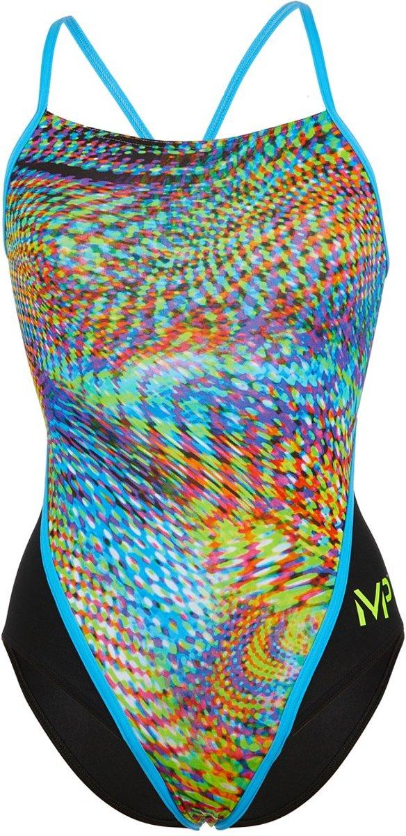 Michael Phelps Snake - Badpak - Dames - 38 - Multicolor/Zwart