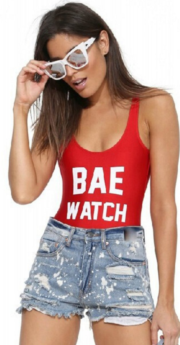 Bae Watch badpak-Rood-M