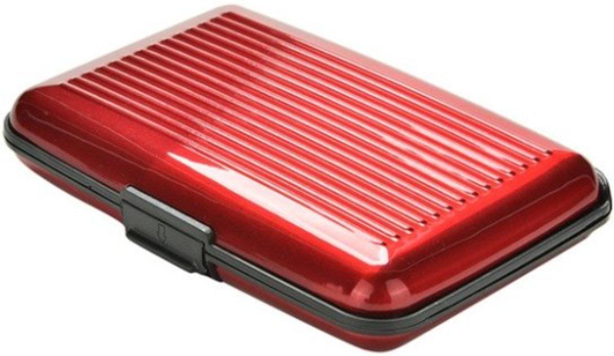 RFID Creditkaarthouder - Pasjeshouder - Aluminium  Portemonnee - Pasjes Wallet - Rood - Creditcard Case – Visitiekaarthouder