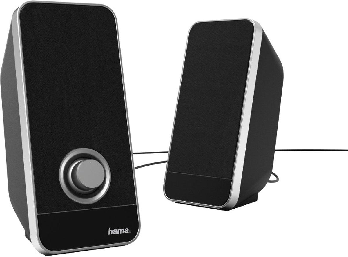 Hama Sonic LS-206 luidspreker 6 W Zwart, Zilver