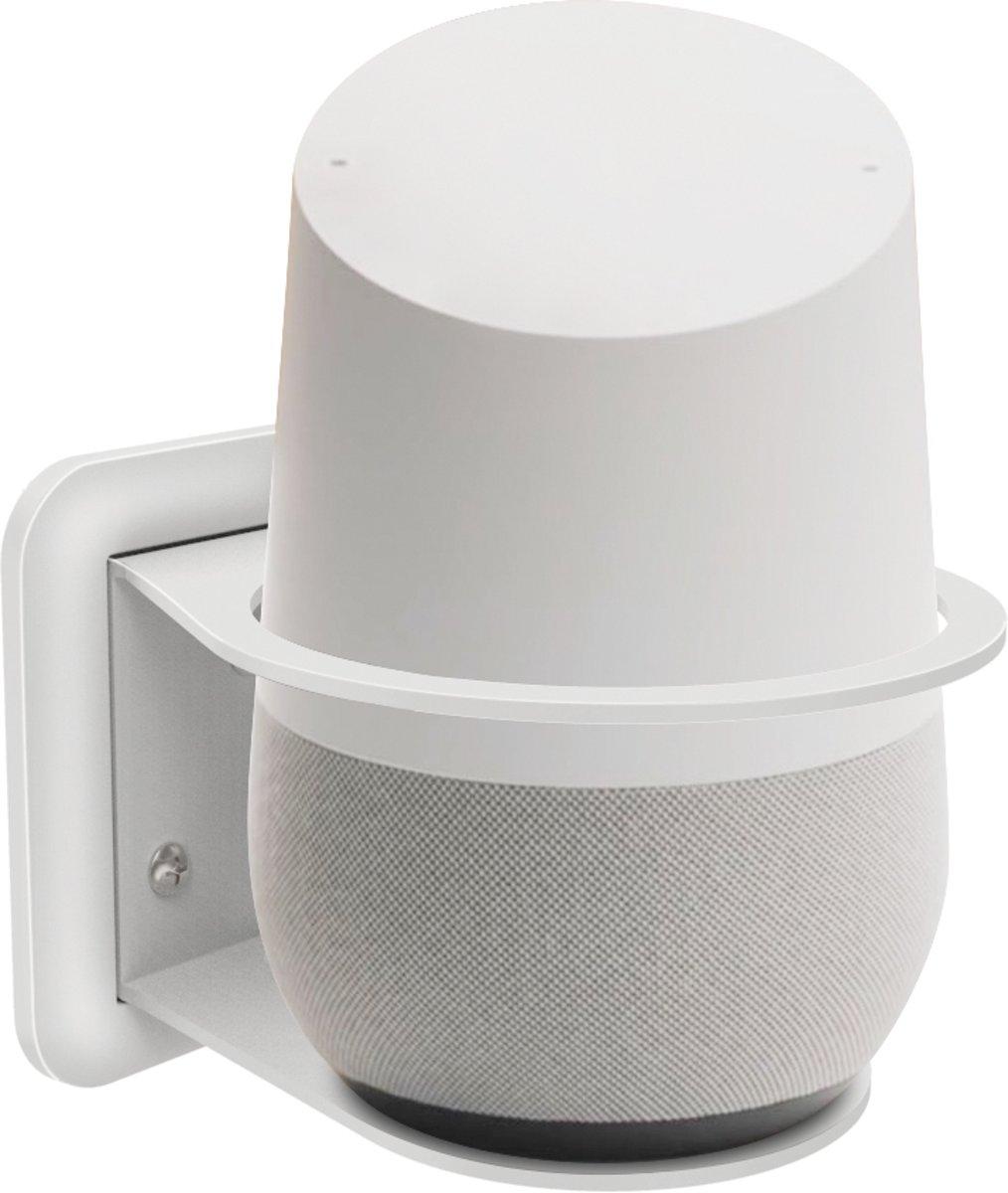 Wand Houder Case Mount Voor Google Nest Home / Amazon Echo 2 Plus Wifi Smart Speaker - Wit