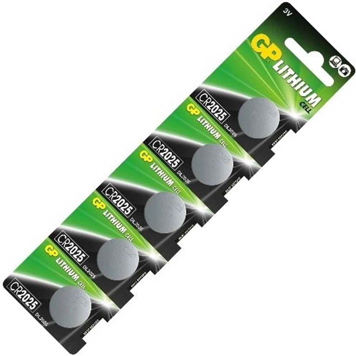 5 STUKS GP CR2025 lithium batterijen