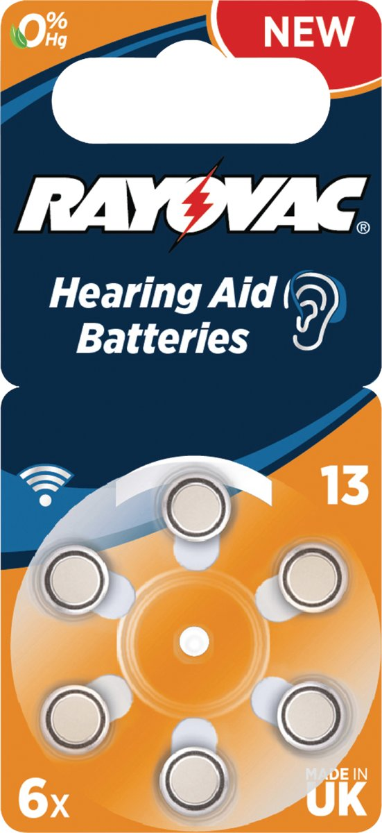 Rayovac Hearing aid 13, 6-pack Single-use battery Zink-lucht 1,4 V