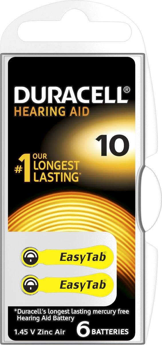 Duracell Duralock Hearing Aid 10 geel
