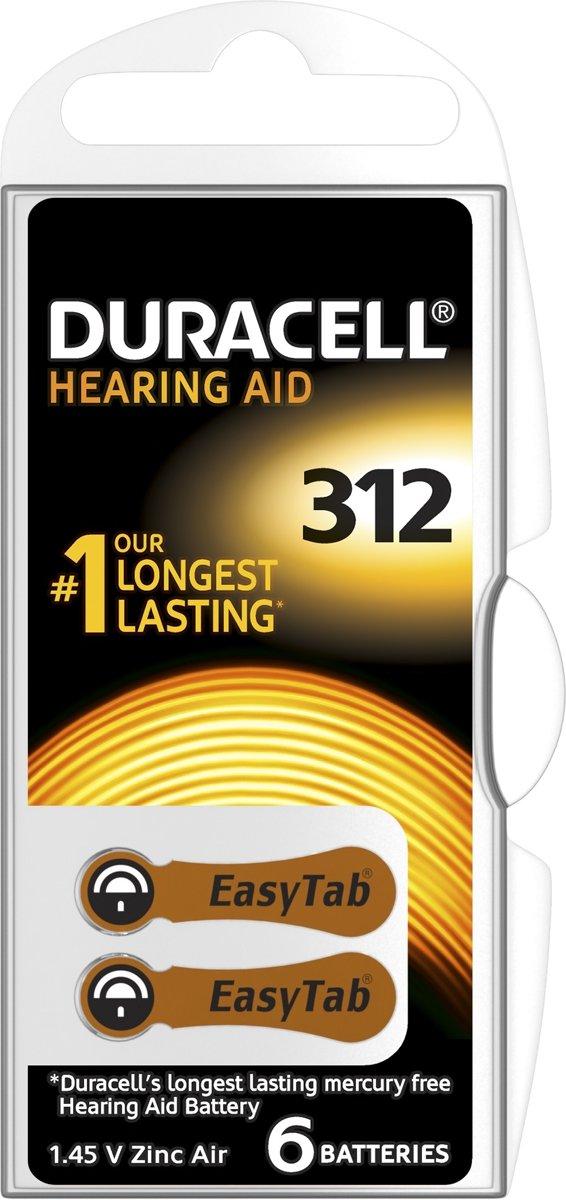 Duracell Duralock Hearing Aid 312 bruin