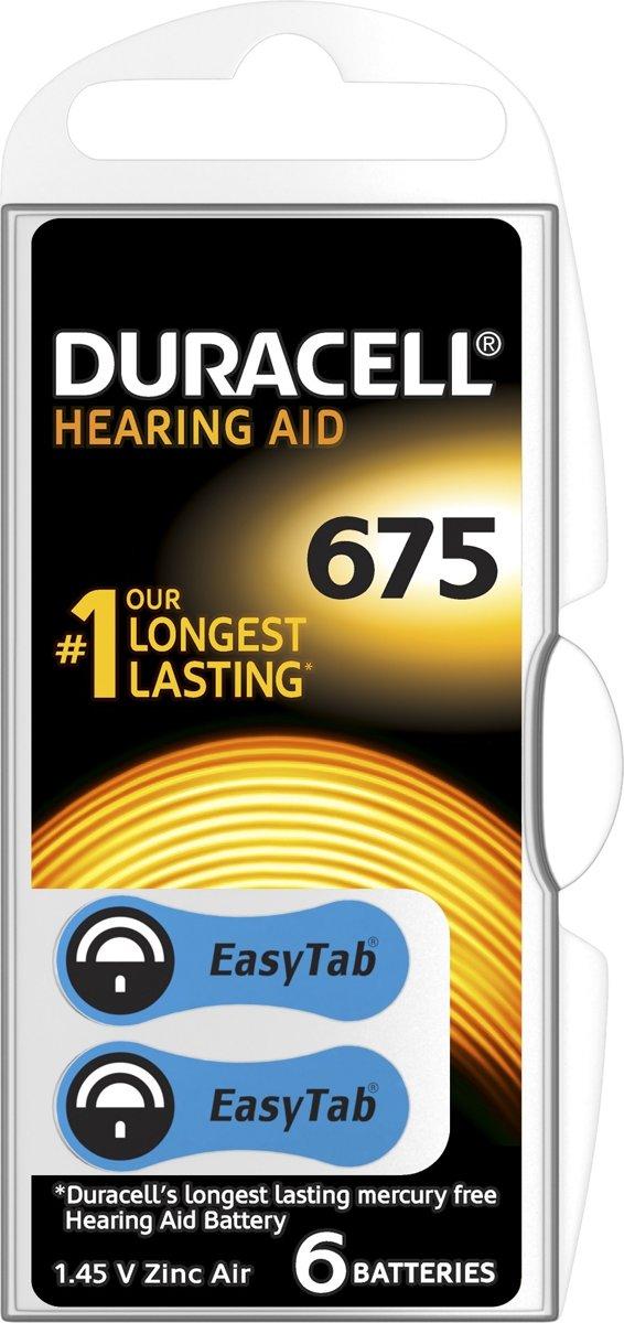 Duracell Hearing Aid batterijen Maat 675 - 6 Stuks