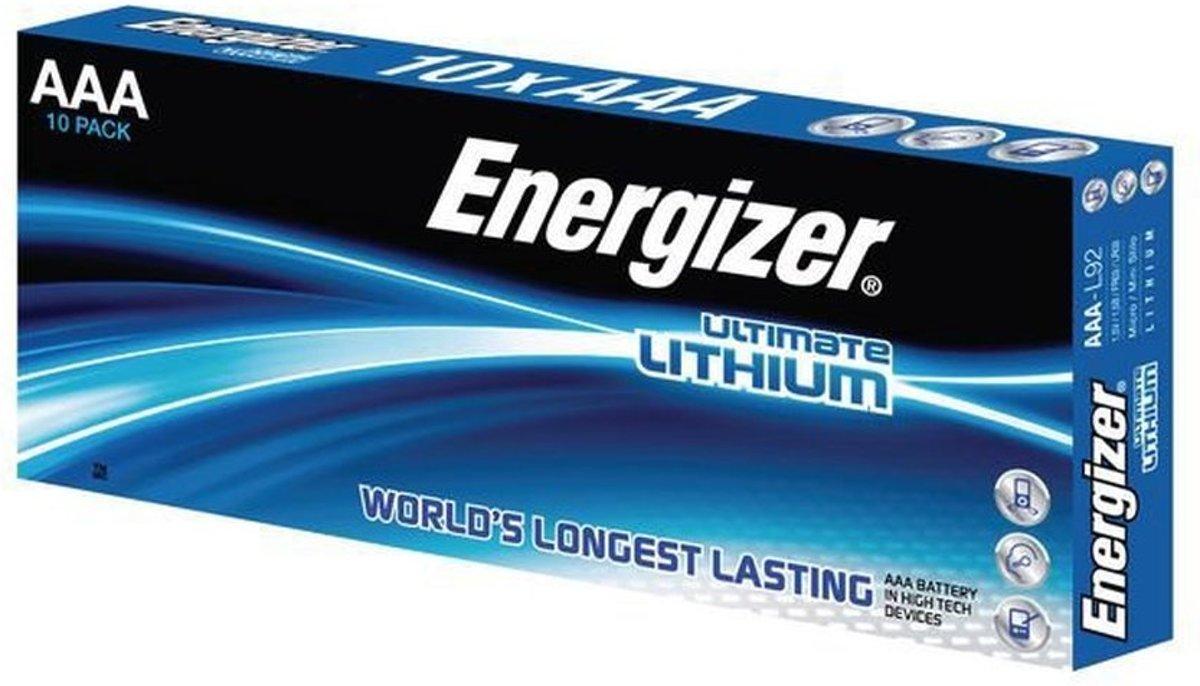 AAA batterij (potlood) Energizer Ultimate FR03 Lithium 1.5 V 10 stuks