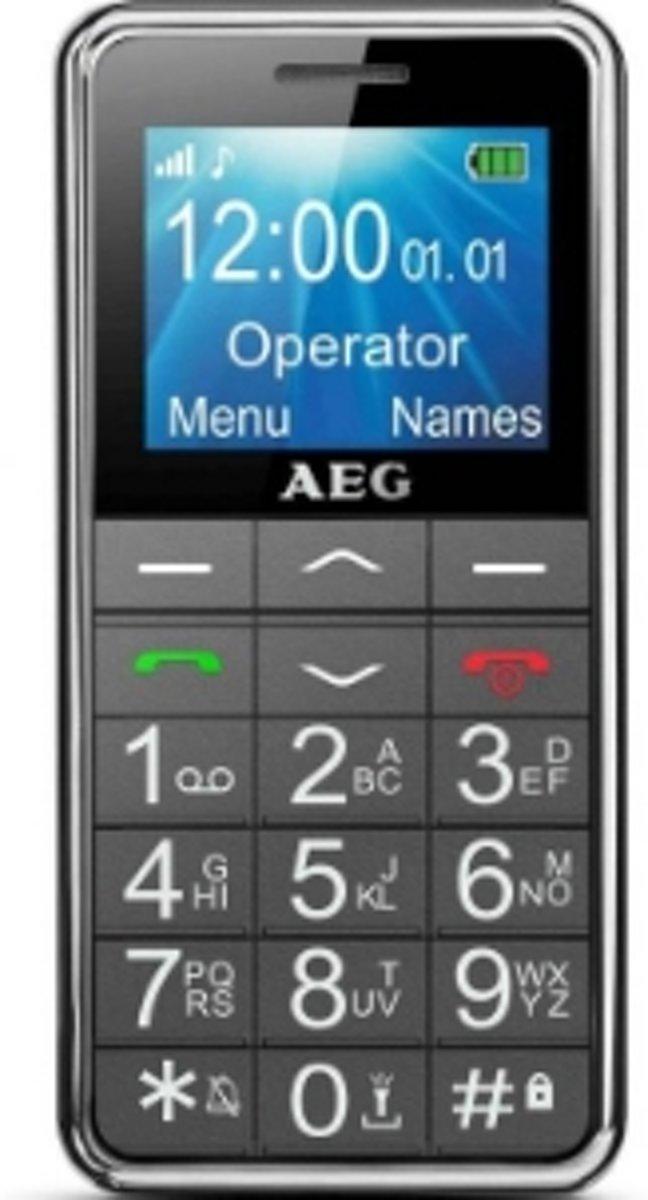 AEG SM250 Senioren mobiele telefoon SOS-knop Zwart