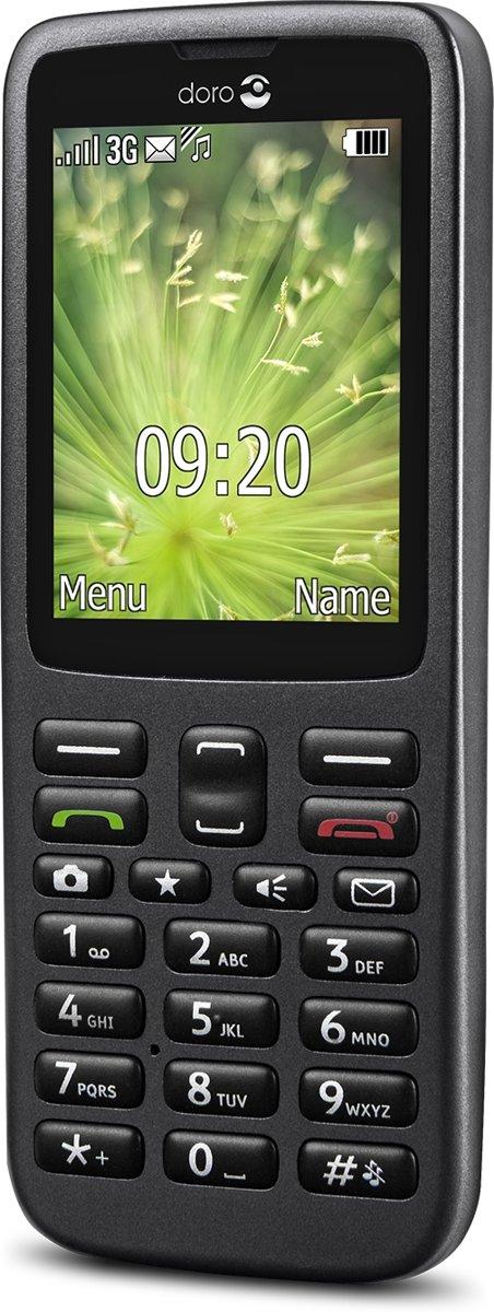 doro 5516 Senioren mobiele telefoon Laadstation, SOS-knop Grafiet