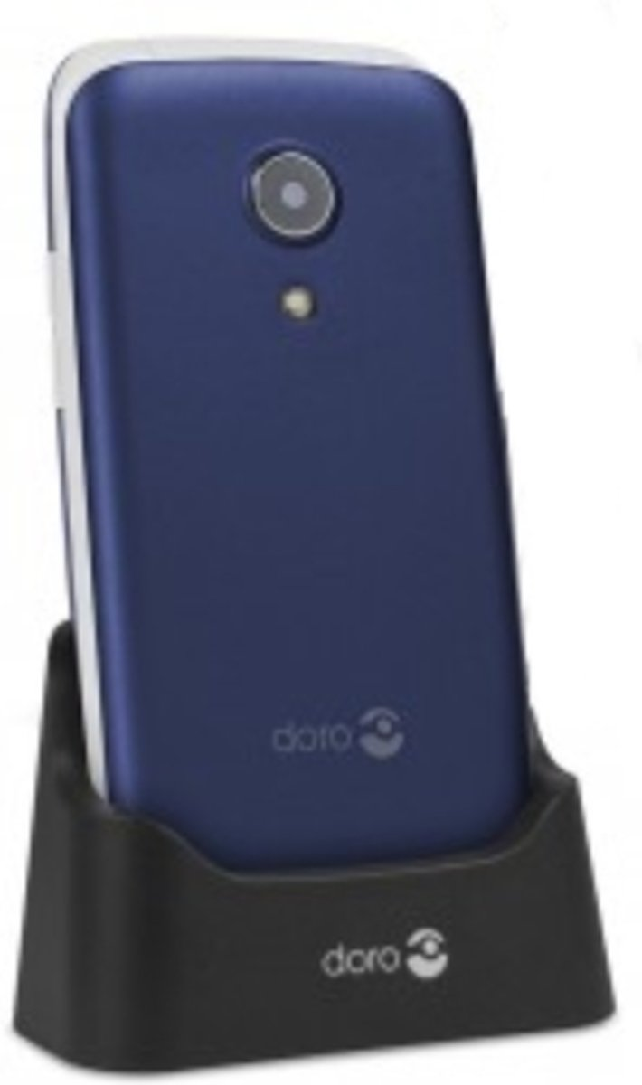DORO 2414 Senioren clamshell telefoon SOS-knop Blauw