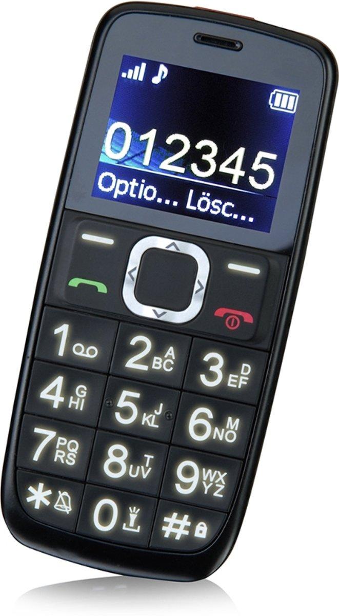 Switel M170Bravo Senioren mobiele telefoon SOS-knop, Laadstation Zwart