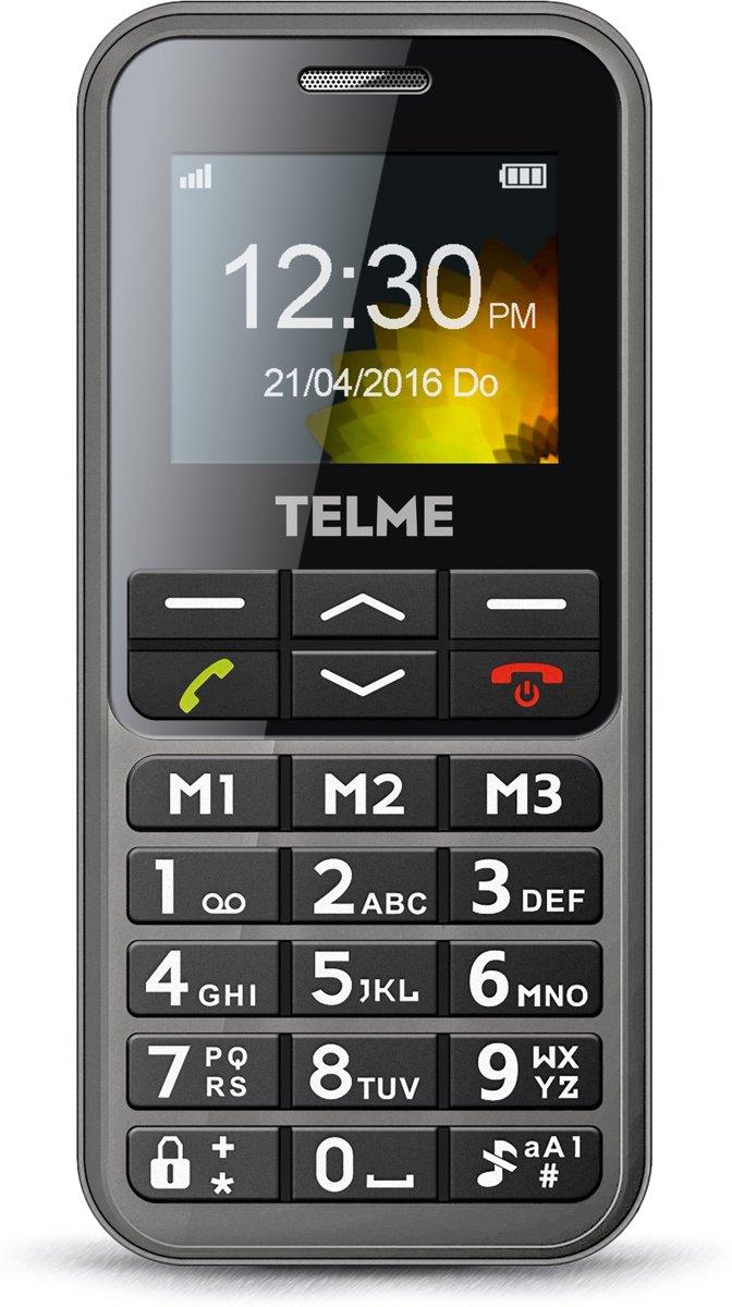 Telme C151 Senioren mobiele telefoon Laadstation, SOS-knop Spacegrijs