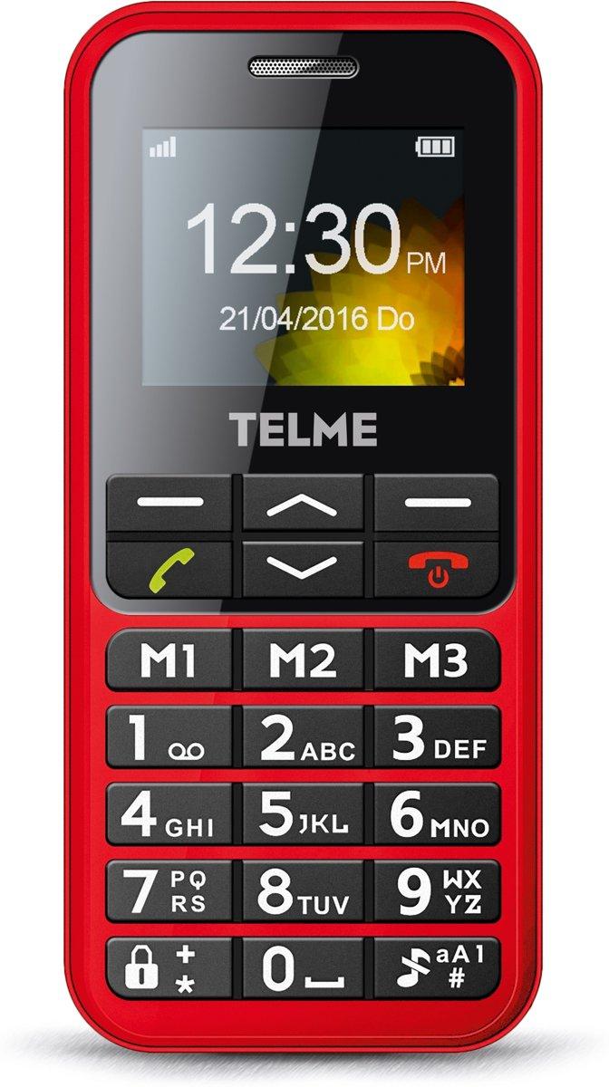 Telme C151 Senioren mobiele telefoon Laadstation, SOS-knop Rood