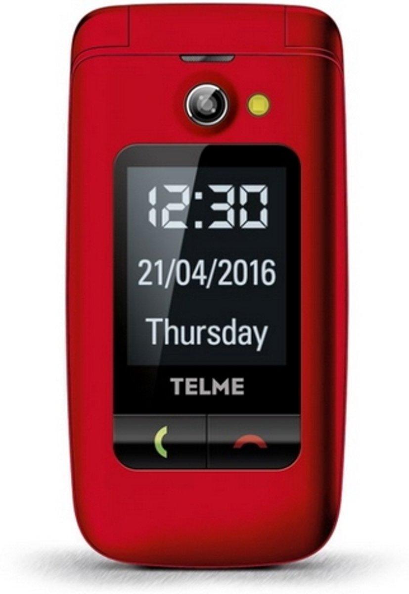 Telme X200 Senioren clamshell telefoon Laadstation, SOS-knop Rood