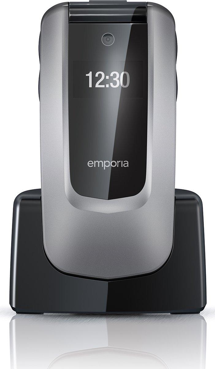 Emporia Comfort Senioren clamshell telefoon Laadstation, SOS-knop Spacegrijs