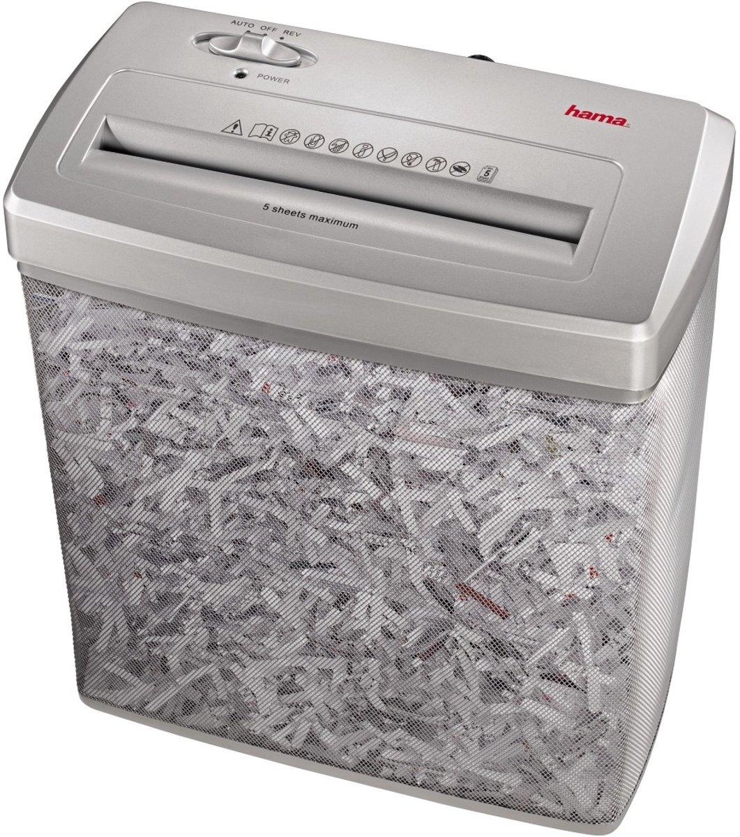 Papierversnipperaar Hama Premium X6M Cross cut 4 x 39 mm 14 l Aantal bladen (max.): 5 Veiligheidsniveau 3 Ook geschikt voor Creditcards