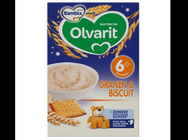 Olvarit 6m+ Granen & Biscuit Avondpap