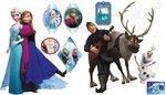 Disney Family - Muurstickers 2 x vel A3 - Multi