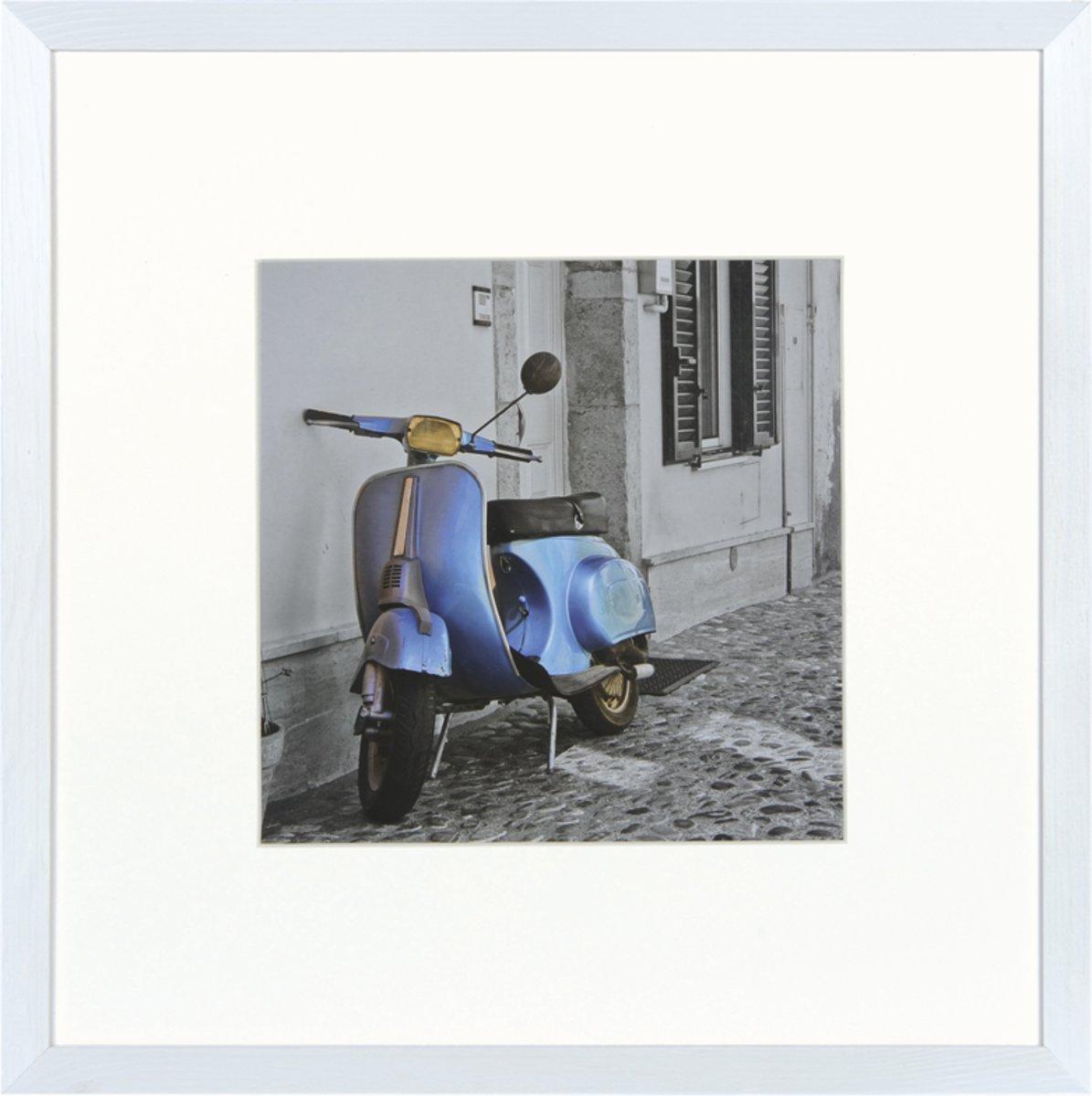 Henzo UMBRIA - Fotolijst - 30 x 30 cm - Fotoformaat 30 x 30 / 18 x 18 cm - Wit
