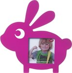 JIP houten fotolijst konijn 25 x 25 cm roze