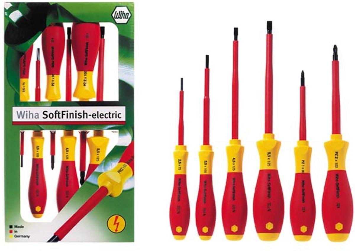 Wiha SoftFinish electric 3251 K6 VDE Schroevendraaierset 6-delig Torx